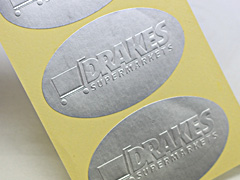 Embossed Paper Stickers
