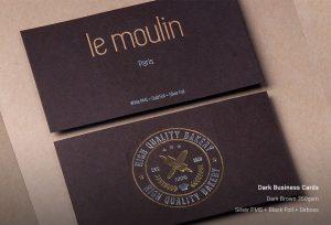 Custom Dark Business Cards Printing