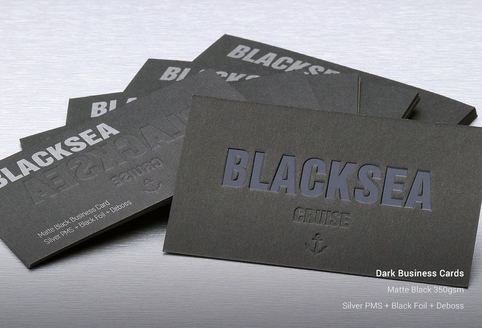 Custom Dark Business Cards Printing