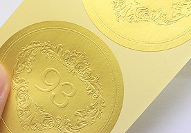 Embossed Paper Stickers Printing
