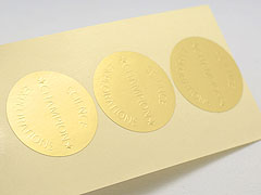 Custom Embossed Paper Stickers Printing