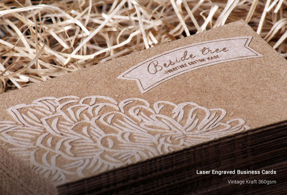 Laser Engraved Business Cards Printing