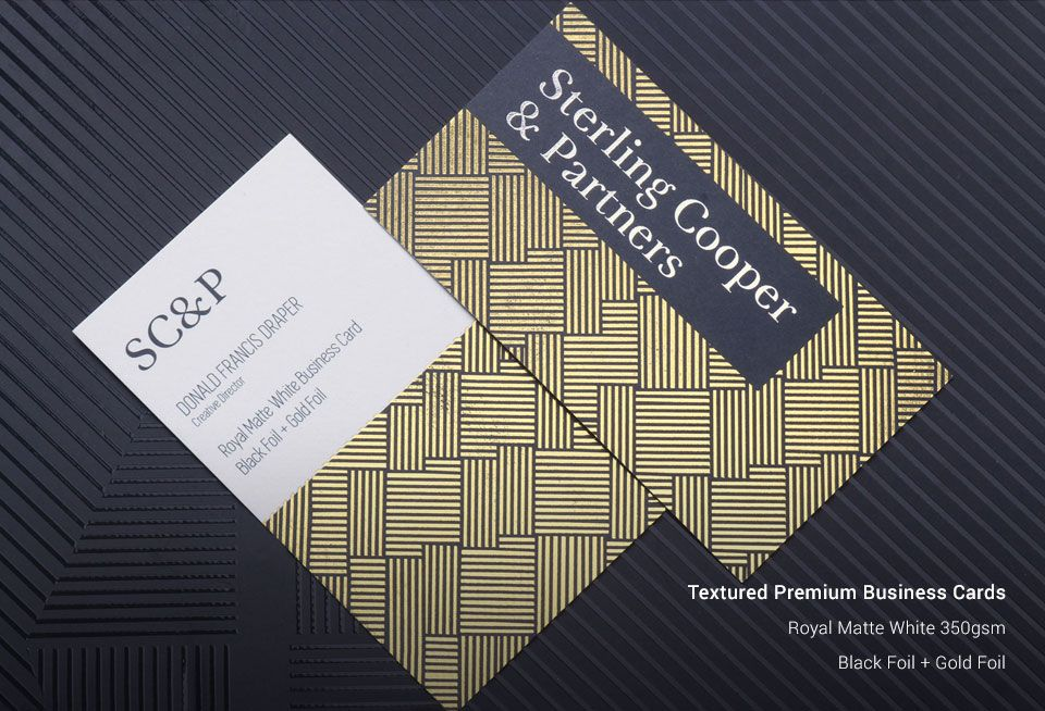 Custom Textured Business Cards Printing